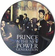 """PRINCE 12"""" Thunder UK Only PICTURE DISC 3 track w/ Insert UNPLAYED"""