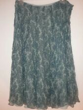 JONES NEW YORK Size 12 Green Pleated Floral Below Knee Skirt