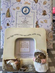 Beatrix Potter Mrs Tight-winkle Photo Frame - Boarder Fine Arts With Box