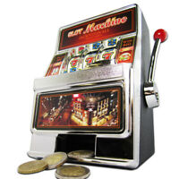 Slot Machine Spardose - Einarmiger Bandit Spielautomat mit Sound und Licht, Geld