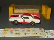 Vintage Aurora Ho Slot Car w Case & Decal Sheet #1419 Wild Ones Cougar