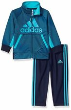 NWT Adidas Baby Boys 12M Tricot Zip Track Suit Collegiate Navy Camo Jacket Pants