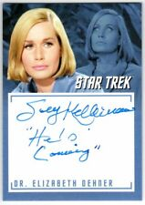 STAR TREK TOS CAPTAINS COLLECTION A14 SALLY KELLERMAN INSCRIPTION AUTOGRAPH V4