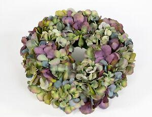 Hortensienkranz 32cm blau-grün-lila CG künstlicher Kranz künstliche Hortensien