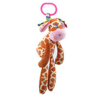 Hanging Baby Hanging Stroller Teether Bells Cute Camel Giraffe Animal Plush Doll