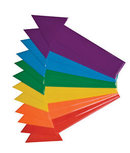 Champion Sports Directional Arrow Set, 16 x 4 Inches, Poly, 6-Color, Set of 12