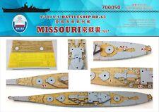 Astillero 1/700 700050 USS acorazado Missouri cubierta de madera para Trumpeter