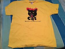 Black Cat Fireworks Yellow T Shirt The Best You Can Get Sz XL