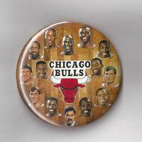 "1991 Chicago Bulls NBA Champs team photo button 3 1/2"" pin Michael Jordan Pippen"