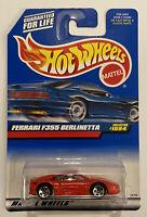 1999 Hotwheels Ferrari F355 355 Berlinetta Red Rosso! Very Rare! Mint! MOC!