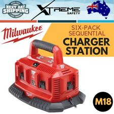 New MILWAUKEE M18 Li-ion Heavy Duty Compact Six-Pack Sequential Charger Station