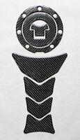 REAL CARBON FIBER TANK PAD PROTECTOR / Gas Fuel Cap Cover Filler Set Fits Honda