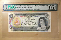 Canada BC-46aA1973 $1 Lawson | Bouey S/N *GY5764476 Replacement PMG 65 EPQ