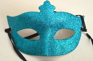 NEW Blue glitter Masquerade half face mask Eye Gothic halloween medieval party