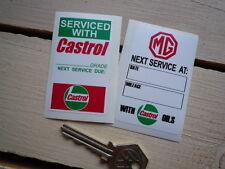 MG SERVICE STICKERS MGB V8 GT MGA  MGC TF F ZA ZF ZT ZB