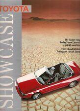 Toyota Starlet Corolla Carina MR2 Celica Camry Supra 1987 ed1 UK Market Brochure
