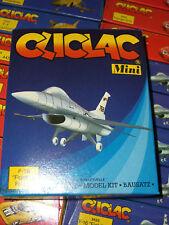 80'S CLICLAC MINI F-16 FIGHTING FALCON MINT MIB HELLER PLASTIC MODEL KIT SNAP ON