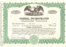 Normel Incorporated > Pennsylvania old stock certificate share scripophily