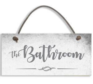 Door Sign/Plaque Toilet Bathroom Bedroom Ensuite Guest Room
