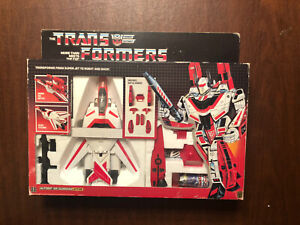 Hasbro Transformers Jetfire Autobot G1 with box 1984 Unapplied Stickers