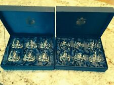 12 Faberge Printemp Etched Crystal Vodka Glasses In Original Boxes