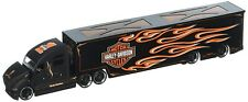 MAISTO 5593 - Harley Davidson Flame Graphics Custom Hauler  - 1/64 Scale