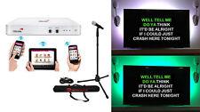 HDKaraoke HDK Box 2.0 Wi-Fi Karaoke Machine System+LED TV Light Strip+Mic+Stand