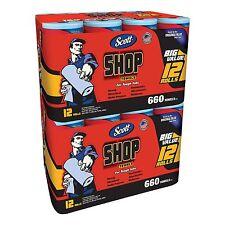 Scott Blue 24 Rolls Original Paper Shop Towels 55 Sheets per Roll, 1320 Sheets