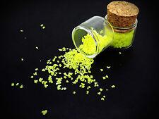 yellow GLOW IN THE DARK SAND grain decoration fish tanks crafts vials bottles uk