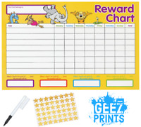 Care Bear Potty Training Reward Chart with Stickers and Dry Wipe Marker