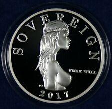 2017 Free Will Sovereign 1 Oz. Silver Coin