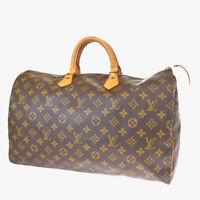 Auth LOUIS VUITTON Speedy 35 Travel Hand Bag Monogram Leather M41524 34BQ565