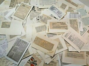 Vintage 250 + Handwritten & Clipped Recipes & Remedies 1960-1990's Some Polish