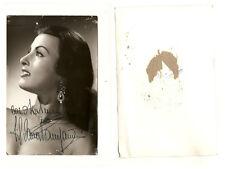 Fotocartolina con autografo Silvana Pampanini