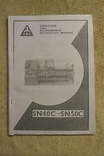 TOS SN40C/50C Lathe Manual (World Post)