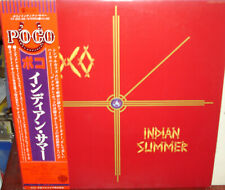 "POCO ""Indian Summer"" rare 1977 Japan Lp w/Obi w/lyrics Tim Schmit EAGLES"