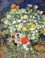Bouquet of Flowers in a Vase by Vincent van Gogh A1 High Quality Art Print