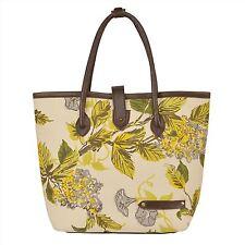Hammer Coal Cream Canvas Branded Italian Leather Women's Handbag Shoulder Bag
