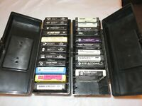 8 TRACK TAPES 22 WITH 2 CASES 1960'S-1980'S DISCO,STREISAND,SHA NA NA,CHICAGO