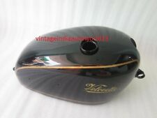 VELOCETTE VENOM BLACK PAINTED STEEL PETROL TANK (REPRODUCTION)
