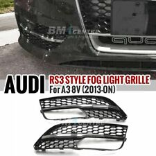 RS3 STYLE HONEYCOMB FRONT FOG LAMP COVER FOR AUDI A3 8V SPORTBACK 2012-2015 CHM