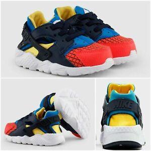 NEW NIKE Huarache Run Ultra Now Baby Boy Shoes Bright Crimson/Obsidian Size 7