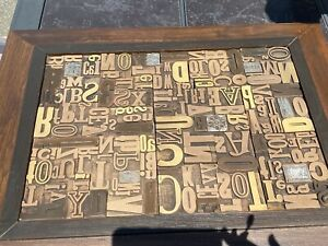 THE MONSANTO ANTIQUE COLLECTION-WOOD BLOCK TYPE LETTERPRESS ART-SIGNED BY ARTIST