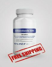 Albendazole 500 mg 100 Tablets De Wormer Dog Cat Animals Treatment Anthelmintic*