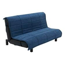 Your Zone Grid Tufted Upholstered Sofa Bed, Blue