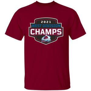 Men's Colorado Avalanche 2021 West Division Champion Hockey T-shirt S-4XL