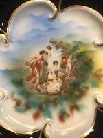 Vintage Echt Kobalt Jlmenau Graf Von Henneberg Porcelain Dish Numbered, Germany
