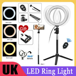 """8""""-18""""LED Ring Light with Adjustable Tripod Stand and Phone holder For TikTok UK"""
