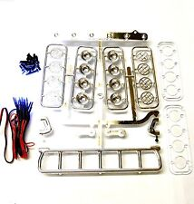 L-033 1/10 Monster Truck Body Shell De Montaje Para Techo Luz Set Blanco 6 Leds Cromo