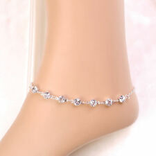 Womens Silver Ankle Bracelet Anklet Adjustable Chain Foot Gift Beach Jewellery
